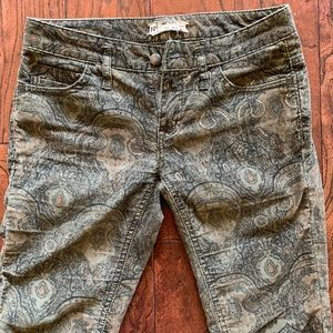 Free People Paisley Cords